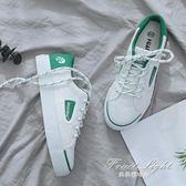 帆布鞋 環球小白鞋女韓版百搭學生布鞋子透氣休閒帆布鞋 果果輕時尚