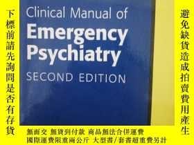 二手書博民逛書店clinical罕見manual of emergency psychiatryY254376 2016