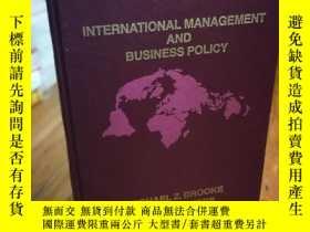 二手書博民逛書店International罕見management and bu