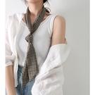 簡約時尚~春秋百搭韓國棋盤格職業裝搭西裝窄絲巾小長條領巾腰帶 嬡孕哺