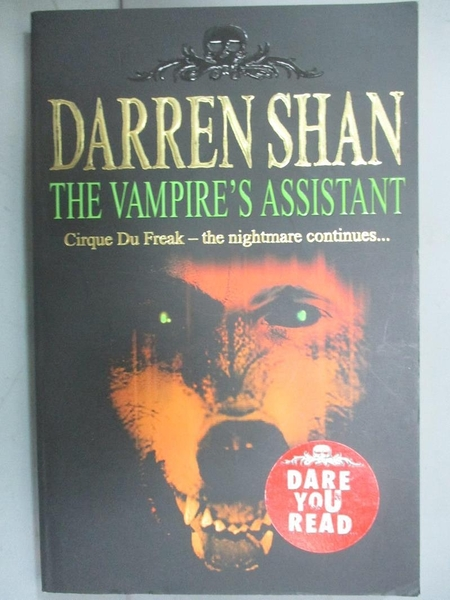 【書寶二手書T1/原文小說_LID】The Vampire's Assistant (The Saga of Darren Shan Book 2)_Darren Shan