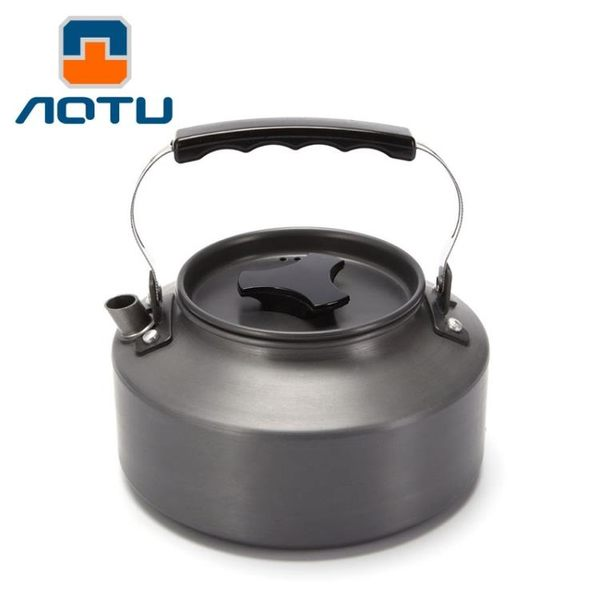 【狐狸跑跑】AOTU 戶外1.1L茶壺 硬質鋁合金 附收納袋 AL106