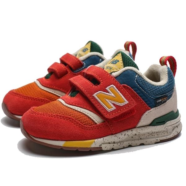 NEW BALANCE NB 997H 橘 黃藍 麂皮 黏帶 慢跑鞋 童鞋 中童 (布魯克林) PZ997HCZ
