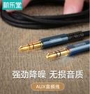 機樂堂AUX車用立體聲音頻線3.5圓孔通用音頻數據線1米,1.5米,2米