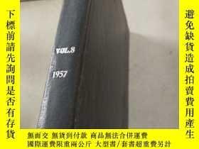 二手書博民逛書店metal罕見industry Vol.8 1957 金屬工業Y