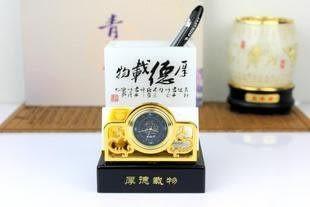 厚德載物筆筒-琉璃玉 辦公實用擺件 生日禮物 筆筒 創意 時尚