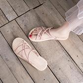涼鞋女ins潮平底新款夏季