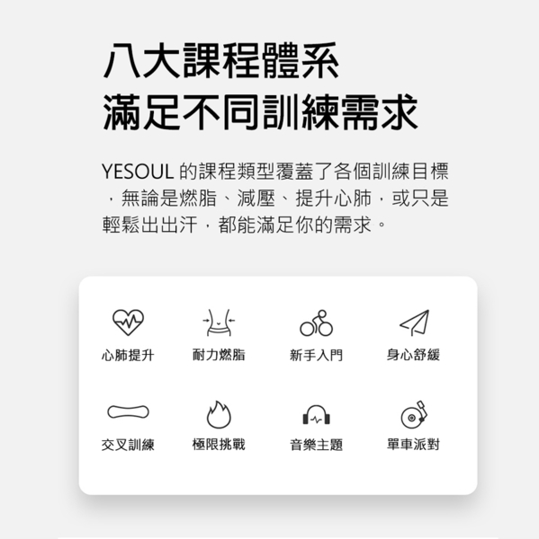 【 X-BIKE 晨昌】YESOUL 總代理 M1 野小獸 智能磁控飛輪競賽車【贈一年免費課程】