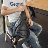 胸包-皮革純色大容量戶外休閒男肩背包73rv46【巴黎精品】