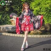 洛麗塔洋裝cosplay服裝日本櫻花和服全套女仆裝 叮噹百貨