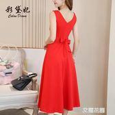 2019款春夏季新款裙子很仙小眾連身裙女裝中長裙韓版時尚打底裙『艾麗花園』