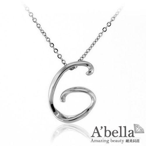 字言字語 Alphabet  字母白鋼墬鍊 (G)-A'bella