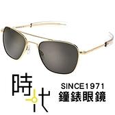 【台南 時代眼鏡 RANDOLPH】偏光墨鏡太陽眼鏡 AF108 58mm 23K金框 灰色偏光 美國製 軍規認證 飛官款