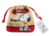 ~卡漫城~Snoopy 束口袋土黃紅底㊣版史奴比史努比絨毛相機包收納袋手機袋糊塗塔克
