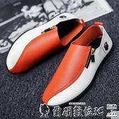 男皮鞋 休閒鞋韓版潮流皮鞋透氣小白潮鞋懶人一腳蹬男鞋子 爾碩數位3c
