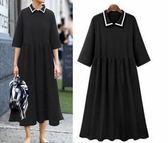 特賣款不退換XL-5XL中大尺碼T恤裙連身裙歐美大碼女裝中袖連衣