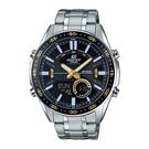 CASIO EDIFICE 定時數碼雙重顯示計時錶(EFV-C100D-1B)-黑x51mm