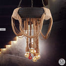 吊燈★復古工業風 輪胎麻繩吊燈 6燈✦燈具燈飾專業首選✦歐曼尼✦