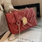 上新小包包女2019新款潮韓版百搭斜挎包鏈條單肩包簡約時尚小方包    JSY時尚屋