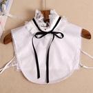 假領子襯衫穿搭領片 立領蕾絲針織衫大學T外套內搭白色[E1605]滿額送愛康衛生棉預購.朵曼堤洋行