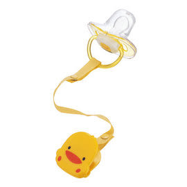 黃色小鴨 PiYO PiYO 拇指型安撫奶嘴+造型奶嘴鍊