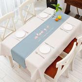 桌巾 北歐現代簡約桌旗原創火烈鳥餐桌布藝茶幾布家用臥室床旗玄關櫃巾【快速出貨】