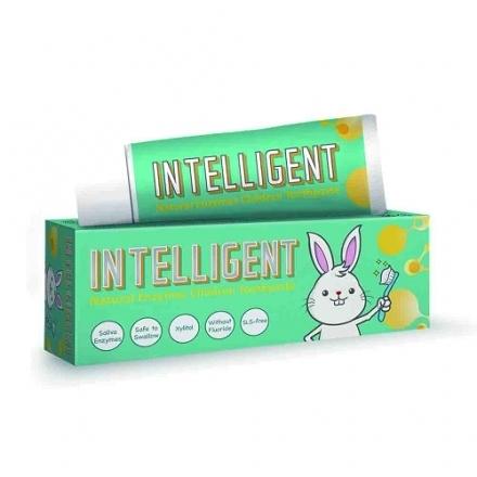 Intelligent 因特力淨 兒童酵素牙膏 (原味) 40g 可吞食不含發泡劑 專品藥局【2002152】