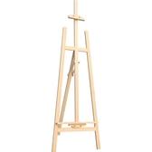 中盛畫材 1.7米鬆木畫架木制拋光 可放全開畫板 木質素描畫板☌zakka