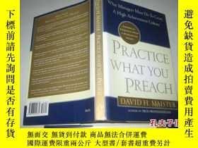 二手書博民逛書店英文原版罕見PRACTICE WHAT YOU PREACH(有