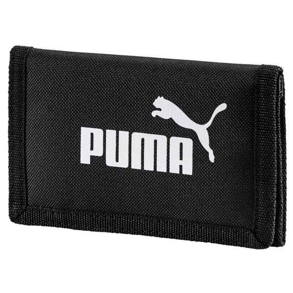Puma Phase 黑 短夾 運動錢包 零錢包 運動 三折式 運動短夾 07561701