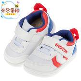 《布布童鞋》活潑寶寶白色透氣機能寶寶學步鞋(13~18公分) [ O8U07XM ]