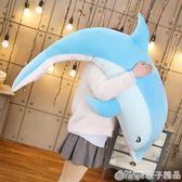 海豚毛絨玩具布娃娃公仔睡覺抱枕女生可愛長條枕懶人大號床上超軟   (橙子精品)