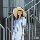 Queen Shop【07020701】氣質蕾絲綁帶編織草帽*現+預*
