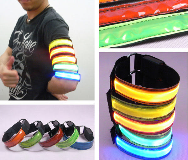 LED 反光 寵物 狗狗 項圈 手臂帶 腕帶 綁腿帶 3種尺寸 3種閃燈 顏色隨機~4G手機