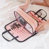 便攜化妝包大容量手拿收納包韓國簡約防水旅行洗漱包手提化妝品包 金曼麗莎