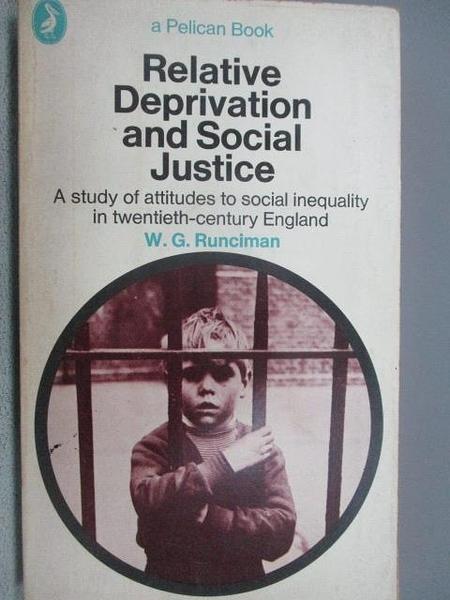 【書寶二手書T1/原文小說_MOI】Relative Deprivation and Social Justice