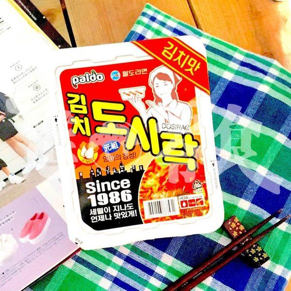 50年前的韓國泡麵味保留下來【Paldo八道】便當盒泡麵 傳統泡菜味