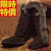 雪靴-狐狸毛過膝加絨高筒女長靴3色64aa32[巴黎精品]