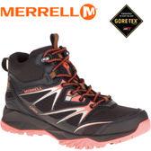 【MERRELL 美國 女款 高筒 CAPRA BOLT MID GORE-TEX 登山鞋〈黑/亮橘〉】ML37392/休閒鞋/登山鞋★滿額送