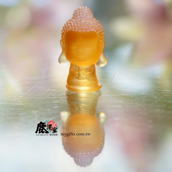 鹿港窯-居家開運水晶琉璃擺飾-Q版好神公仔~無為達人-釋迦牟尼佛