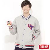 CHUMS 日本 男 INLAY 刷毛棒球外套 UT立體拼字 霧灰 CH0406560118