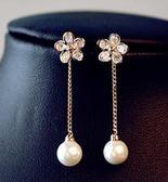 (萬聖節狂歡)耳釘 小巧精美耳環女氣質正韓簡約花朵珍珠短耳墜耳釘潮