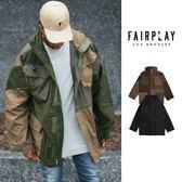 【GT】FairPlay Nobu 黑墨綠 連帽外套 大衣 防風 寬鬆 機能 軍裝 工裝 多口袋 Oversize