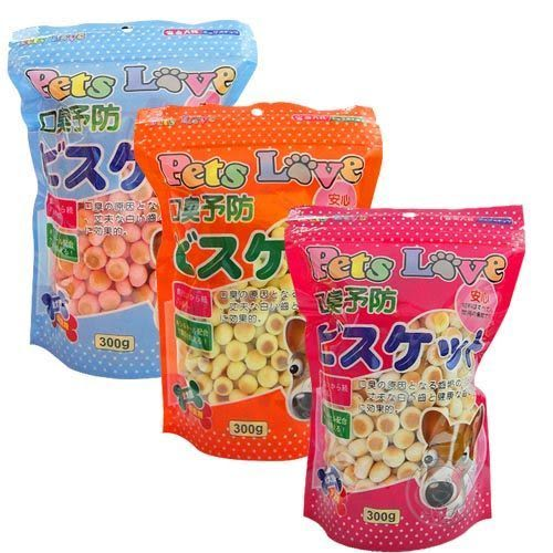 【zoo寵物商城】 Pets Love狗狗《消臭小饅頭 》300g (1包)