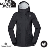 【The North Face 女 防水夾克《黑》】3V49/防水外套/防風外套