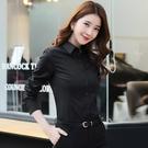 職業襯衫 職業正裝黑色襯衫女長袖時尚洋氣設計感小眾復古港味襯衣潮-Ballet朵朵