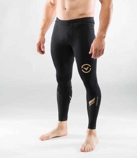 VIRUS 美國百樂仕 AU19 男子生物能Bioceramic緊身機能長褲 慢跑/登山/打球/健身