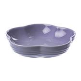 Le Creuset花型盤(中)-粉彩紫