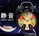 鬧鐘床頭學生靜音創意夜光簡約臥室時尚兒童電子多功能小鬧鐘  新年下殺