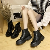 短靴 帥氣馬丁靴女英倫風百搭機車瘦瘦潮短靴夏季酷-Ballet朵朵